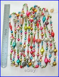 12+ FEET 100% Vintage Mercury Glass Bead Christmas Garland BIG Beads