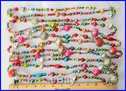 14 1/2 FEET 100% Vintage Mercury Glass Bead Christmas Garland BIG Beads