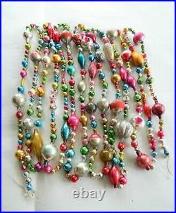 14 FEET 100% Vintage Mercury Glass Bead Christmas Garland BIG Beads! Antique