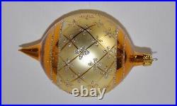 1987 Faberge Christopher Radko Ornament 87-034-0 Vintage Gold Teardrop