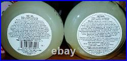 (2) NEW Vintage Yankee Candle WHITE CHRISTMAS black bands with different labels
