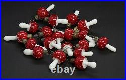 20 VINTAGE BLOWN GLASS MUSHROOMS / Fly Agaric (# 13237)