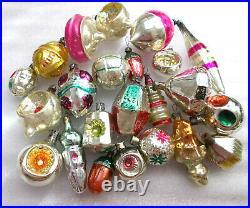 23 Antique Vintage USSR Russian Glass Christmas Ornament Xmas Decoration Old Set