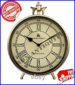 3'' Steel Table Desktop Clock Vintage Replica Maritime Decorative For Christmas