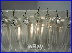 30 Icicle Xmas French Udrop Crystal Glass Prism lamp Chandelier Part vintage