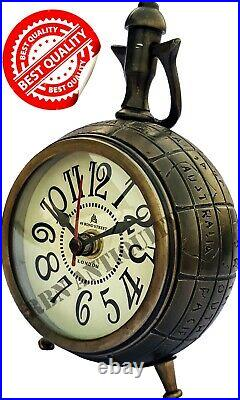 5'' Aluminum Desktop Clock Vintage Replica Best For Maritime Christmas Gift Item