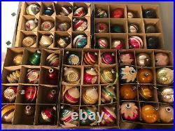 5 dozen Vintage Christmas Glass ornaments Shiny Brite Lot 60 in boxes GORGEOUS