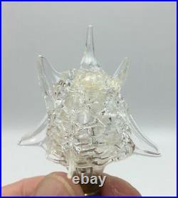 6 Vintage Christmas Light Bulb Sputnik Atomic Hand Blown Glass