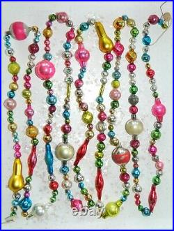 8 1/2 FEET 100% Vintage Mercury Glass Bead Christmas Garland BIG Beads