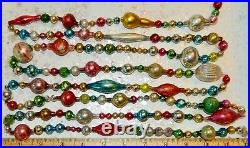 8 FEET 100% Vintage Mercury Glass Bead Christmas Garland Big Beads! Antique