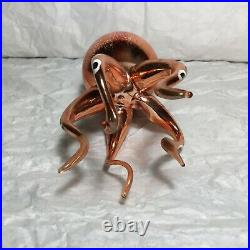 Antique Italian Blown Glass Sea Octopus Figure Large Ornament Vintage Christmas