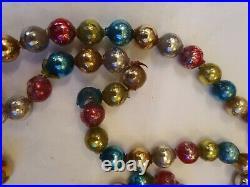 Antique Vintage Christmas Mercury Glass 160cm Garland Tree Beads
