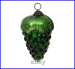 Antique Vintage Green Cluster of Grapes Mercury Glass Kugel Christmas Germany
