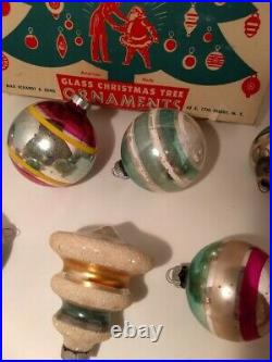 Antique/Vintage Mercury Glass Christmas Ornaments Shiny Brite, American MadeLARGE