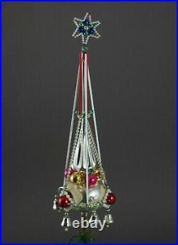 Antique beaded christmas tree topper, Gablonz, Czech, ca. 1930 (# 11689)