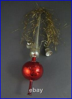 Antique wire wrapped glass tree topper, ca. 1930 (# 10875)