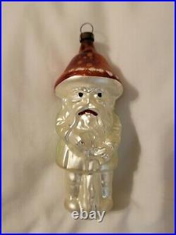 Authentic Antique 1900's German Blown Glass Mushroom Man Ornament OLD
