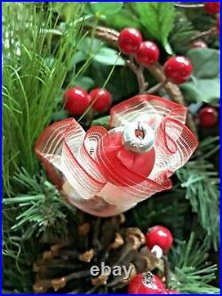 C. 1960s VTG De Carlini Christmas OrnamentRED DRESSED LADYNeiman Marcus-ITALY