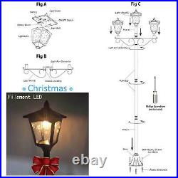 Christmas 72 Triple Head Street Vintage Outdoor Garden Post Solar Lamp Post Lig