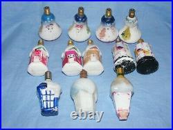 Christmas Figural Light Bulbs House Birdcage Vintage Milk Glass Old Decoration