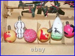 Christmas Figural Light Bulbs Vintage Milk Glass 18 Hunter World RARE Clip on