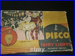 Christmas Pifco Chinese Lantern Light Bulb Vintage Glass Old Antique in Box 1262