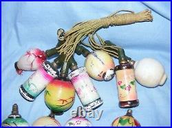 Christmas Tree Lights Figural Light Bulb Vintage Glass Old Decoration Large