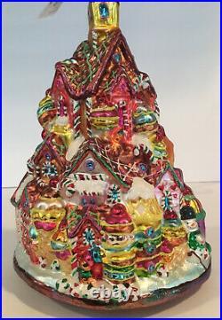 Christopher Radko Gingerbread Lane House Christmas Ornament Vintage New 1010209