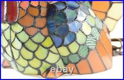 Cracker Barrel Turkey Stained Glass Style Tiffany Style Lamp Vintage Beautiful