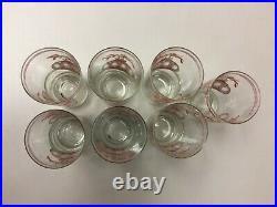 Culver Christmas Glasses Ornaments Hi Ball MCM 5 5/8 Vintage Lot of 7