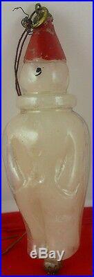 Czech Vintage Christmas glass snowman ornament (s912)