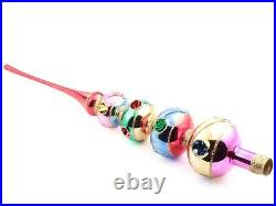 Czech blown glass vintage style Christmas tree topper decoration extra large
