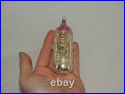 German Antique Glass Figural Boy In A Toboggan Vintage Christmas Ornament 1920's