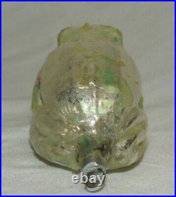 German Antique Glass Figural Frog Vintage Christmas Ornament Decoration 1930's
