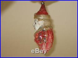 German Antique Glass Figural Smiling Tom Clown Vintage Christmas Ornament 1930's