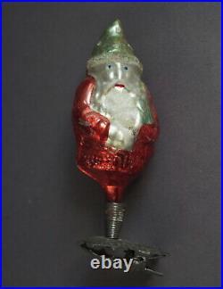 Glass Ornament Santa on Clip, ca. 1930 (# 10859)