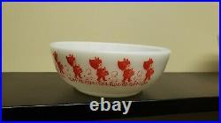Htf Vintage Pyrex Christmas Bowl Little Drummer Boy Lamb Rum Pa Pum Pum