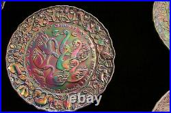 Imperial Glass 12 Days of Christmas Plates Full Set Carnival Glass Vintage