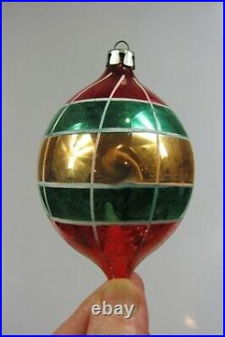 Lot 12 VTG Mercury Glass Mica BALL TEARDROPS Christmas Ornaments Fantasia Poland