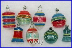 Lot VTG Unsilvered Glass Premier LANTERN BELL UFO TEARDROP Christmas Ornaments