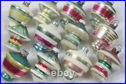 Lot Vntg Mercury Glass UFO TORNADO LANTERN Mica Shiny Brite Christmas Ornaments