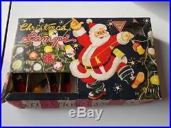 Lot figural Christmas milk glass light bulbs strings vintage & antique lamps