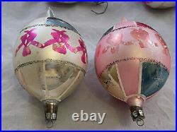 Lot of 16 Vtg Large 5 Mercury Glass Christmas Teardrop Ornaments POLAND-EB36