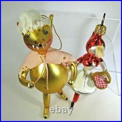 PAIR Christopher RADKO vintage 1994 MY WHAT BIG TEETH Italian ornaments 94-248