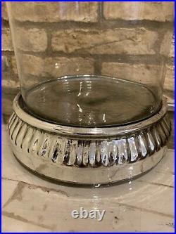 Pottery Barn Antiqued Mercury Hurricane Large Candle Holder New Christmas