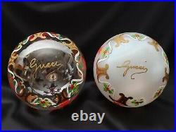 RARE! Gorgeous Set of 6 Vintage GUCCI Blown Glass Christmas Ornaments