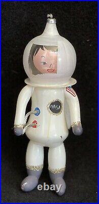 RARE Vintage De Carlini NASA Astronaut Hand Blown Glass 1974 Ornament Italy