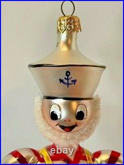 Rare 1994 Christopher Radko Ships Ahoy Sailor Italian Christmas Ornament
