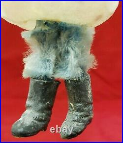 Rare Vintage 1920's Chenille Legs & Wax Boots Glass Ornament