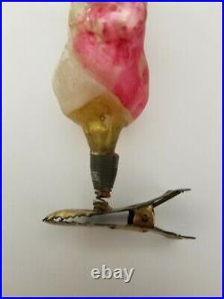 Rare Vintage 1920's German Happy Hooligan on Clip Glass Ornament